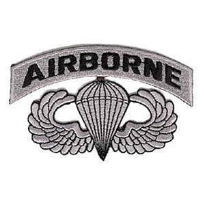 """Airborne Wings with Lettering 3.5"""" Patch - SciFi Geeks"""