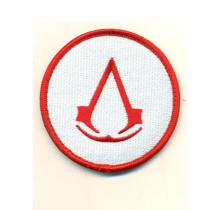 Red Assassins Creed Logo 3 Velcro Patch Scifi Geeks