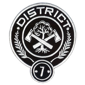 hunger games district 7 embroidered 4quot patch scifi geeks