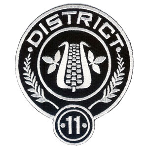 hunger games district 11 embroidered 4quot patch scifi geeks