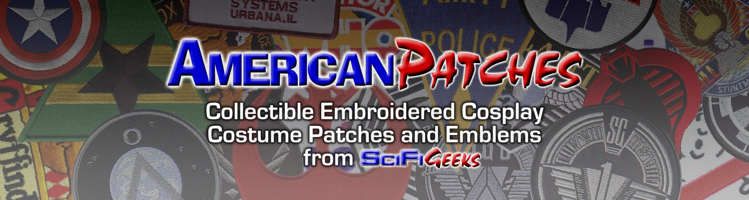 Collectible Embroidered Cosplay Costume Patches and Emblems.
