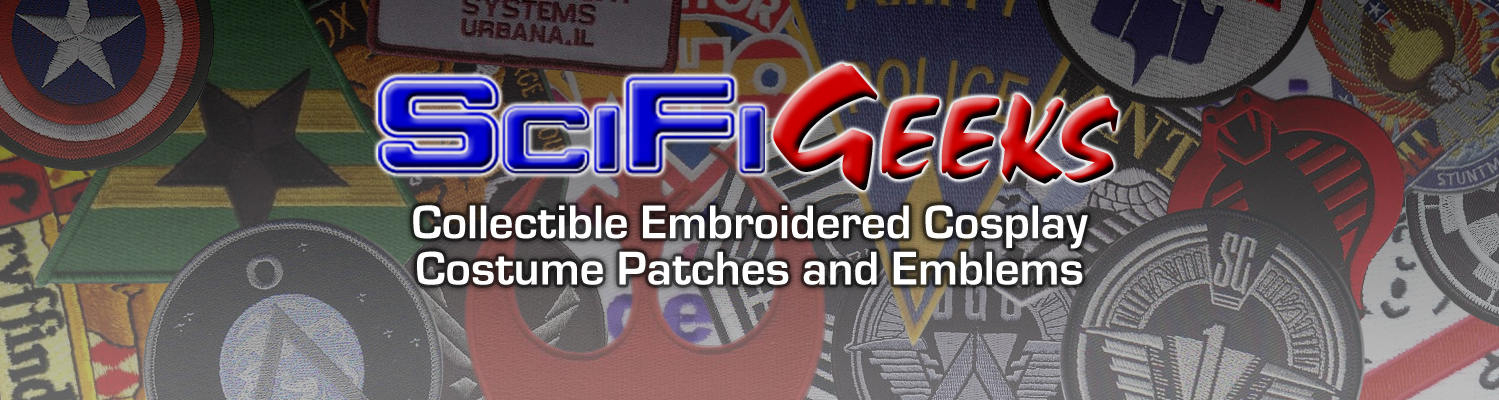 SciFi Geeks - Collectible Embroidered Cosplay Costume Patches and Emblems